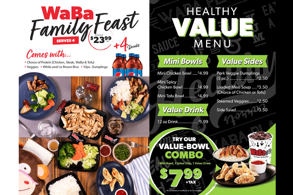 WABA GRILL INTRODUCES NEW FAMILY FEAST & HEALTHY VALUE MENU