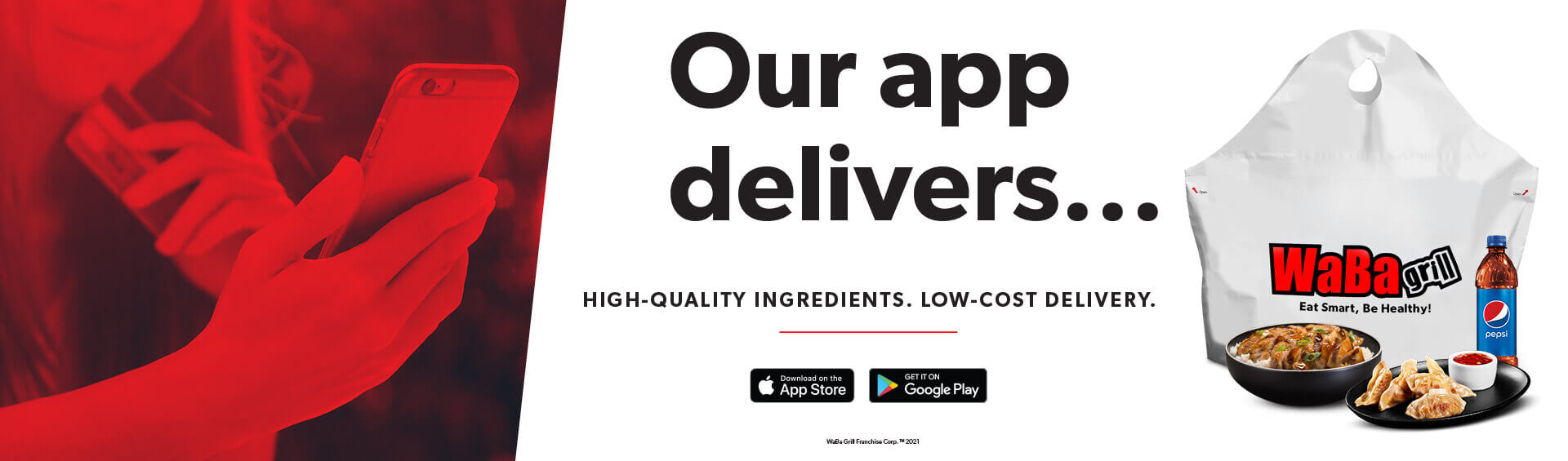 Our App Delivers High Quality Ingredients Low Cost Delivery
